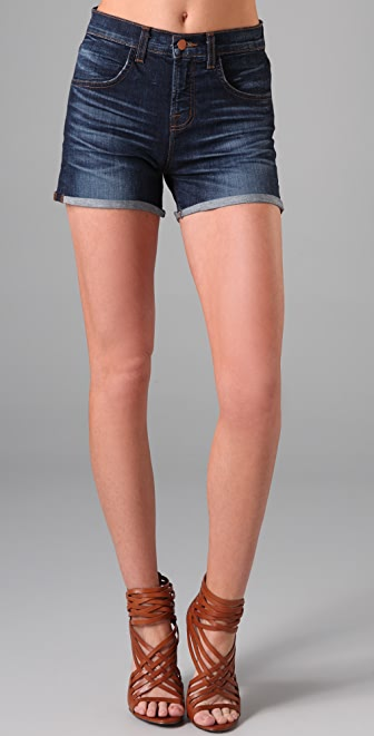 J Brand Gwen High Rise Cuffed Shorts