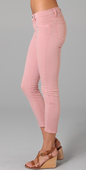 J Brand Low Rise Skinny Capri Jeans