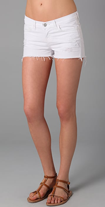 J Brand White Cutoff Denim Shorts
