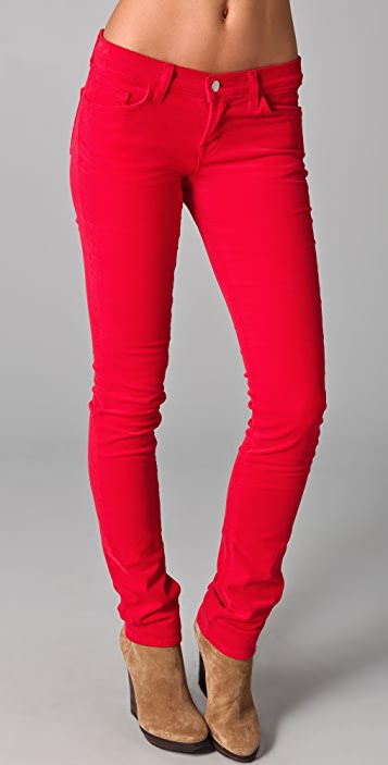 J Brand Bright Corduroy Pencil Leg Pants