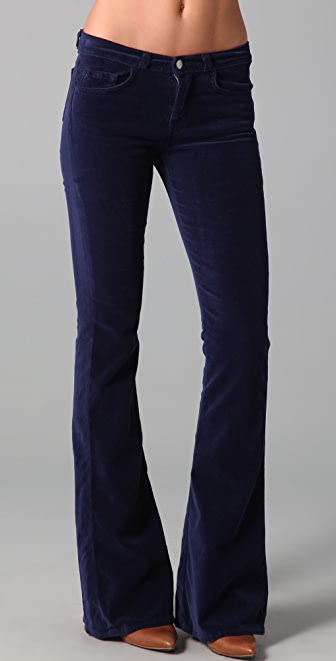 J Brand Martini Skinny Flare Velvet Pants | 15% off first app ...