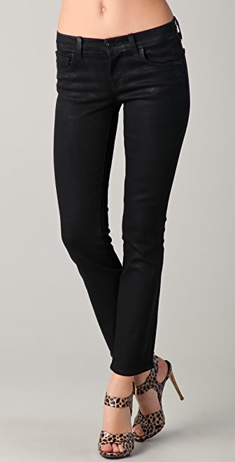 J Brand Coated Stealth Power Stretch Jeans