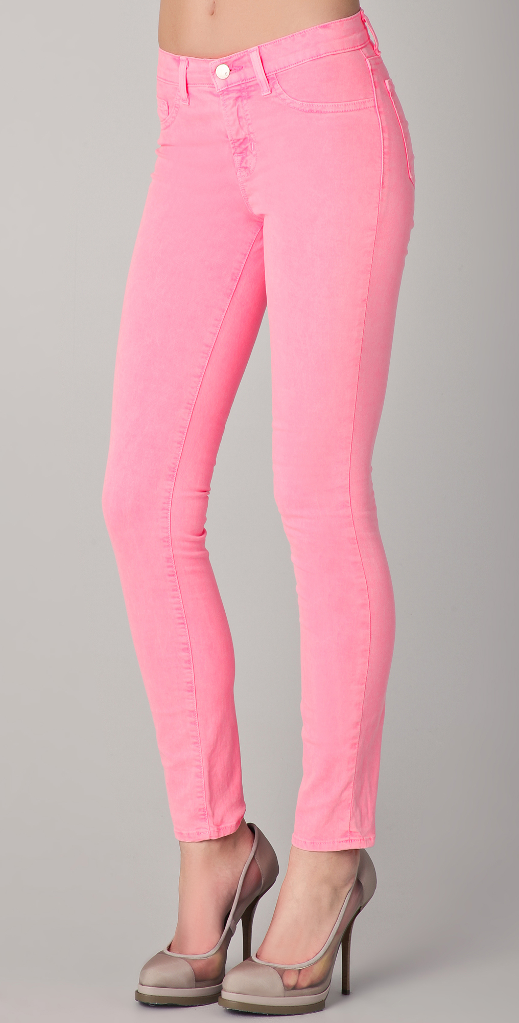 Pink Neon skinny jeans 2019