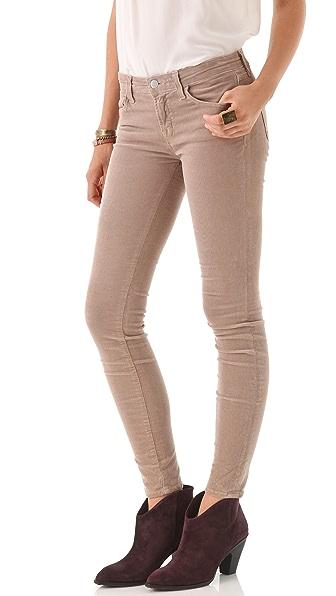 J Brand Mid Rise Pencil Leg Corduroy Pants