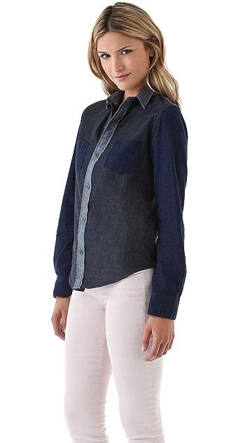 J Brand Colorblock Chambray Shirt