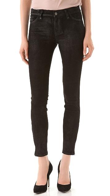 J Brand Super Skinny Suede Pants