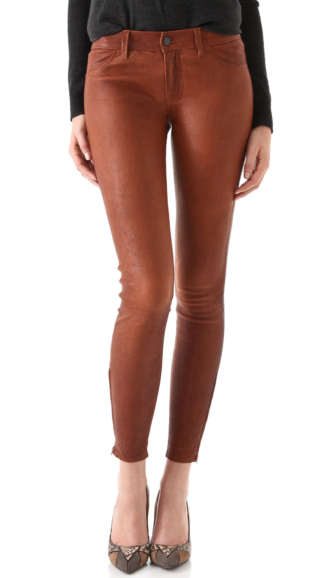 886bc4d4de6d3 J Brand Super Skinny Leather Pants