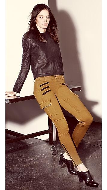 J Brand Brix Skinny Zip Cargo Pants