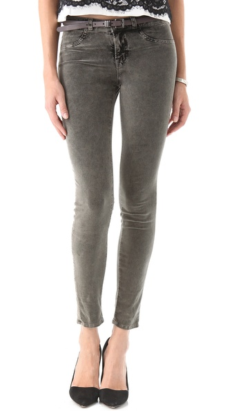 J Brand 801 Acid Wash Velvet Pants
