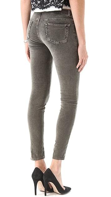 J Brand 801 Acid Wash Velvet Pants