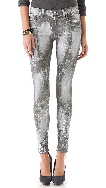 J Brand 910 Coated Skinny Jeans