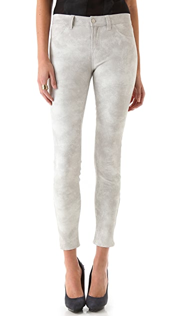 J Brand Super Skinny Leather Pants