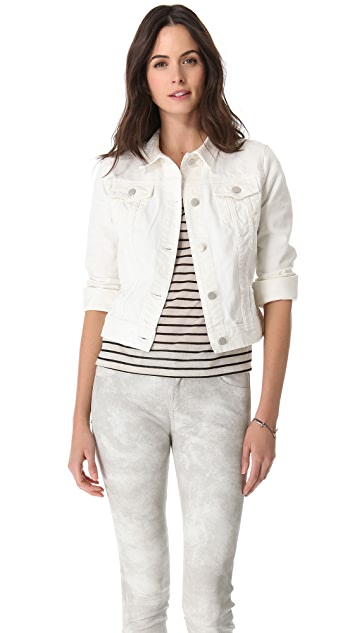 J Brand Destructed Denim Jacket