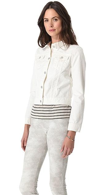 J Brand Destructed Denim Jacket