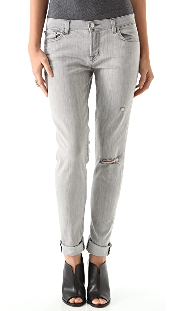 J Brand Cropped Boyfriend Jeans