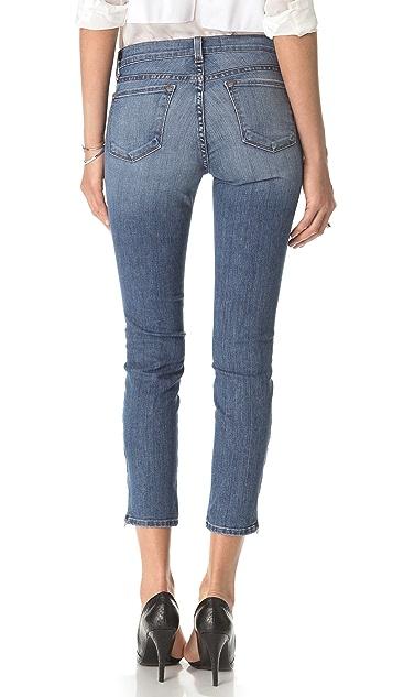 J Brand Mid Rise Capri Zip Jeans
