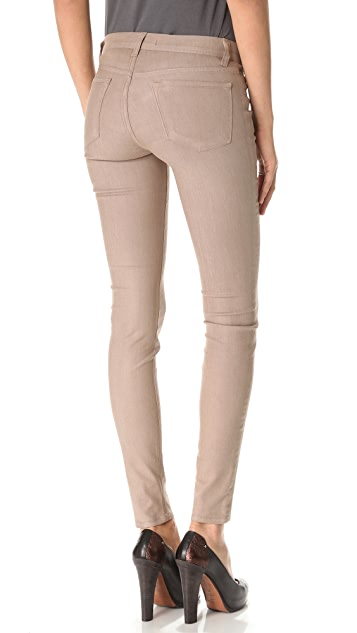 J Brand 915 Super Skinny Coated Jeans