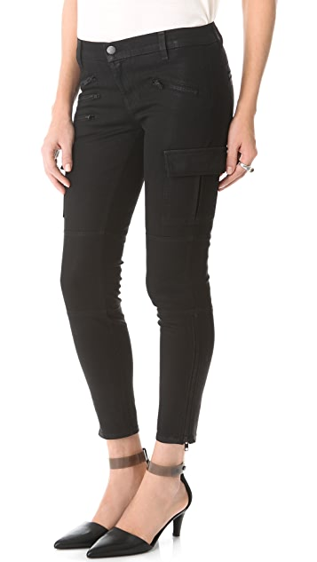 J Brand Brix Zip Coated Skinny Jeans
