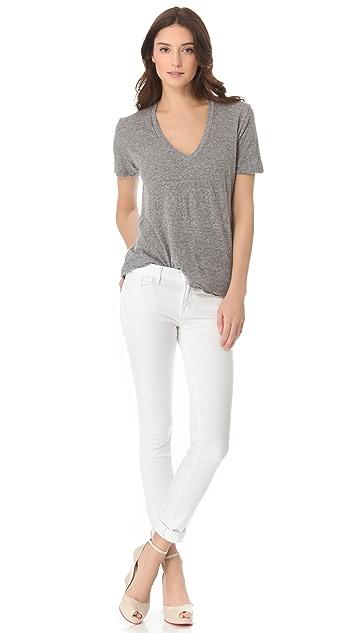J Brand Mid Rise Straight Leg Rail Jeans