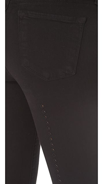 J Brand 620 Super Skinny Jeans with Eyelet Detail