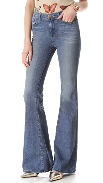 J Brand Valentina High Rise Flare Jeans | 15% off first app ...