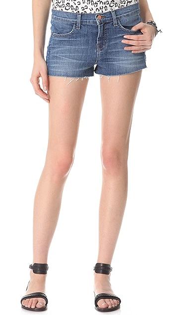 J Brand Chrissy Patchwork Shorts
