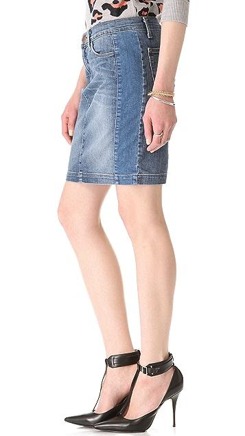 J Brand Chrissy Patchwork Pencil Skirt
