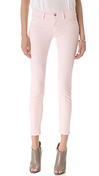 J Brand 811 Mid Rise Luxe Twill Skinny Jeans