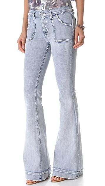 J Brand Retro Patch Pocket Flare Jeans