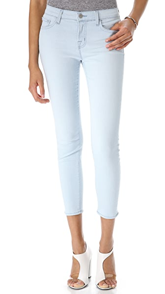 J Brand Mid Rise Cropped Jeans
