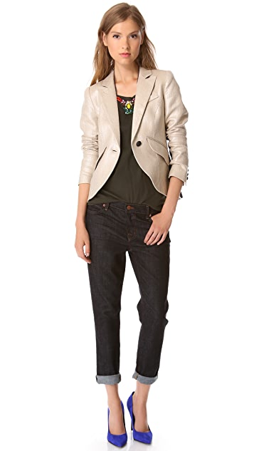J Brand Mid Rise Slouchy Skinny Jeans