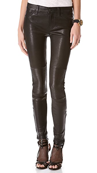J Brand Nicola Leather Moto Pants