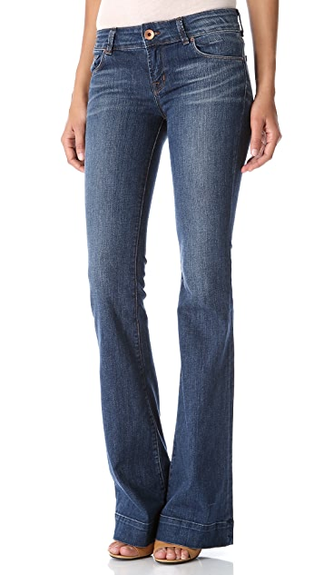 J Brand Low Rise Lovestory Flare Jeans