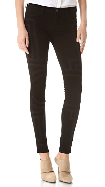 J Brand Angelika Ornate Embroidered Jeans