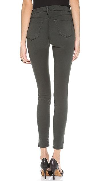 J Brand High Rise Maria Sateen Pants