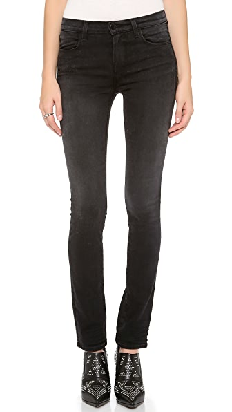 J Brand High Rise Photo Ready Rail Jeans