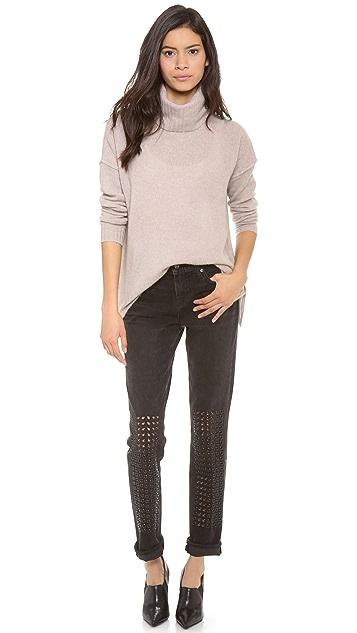 J Brand Embellished Ingrid Boy Fit Jeans
