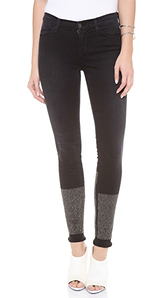 J Brand Petra Studded Skinny Jeans