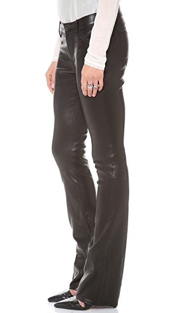 J Brand Brooke Leather Bootcut Pants