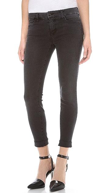 J Brand Anja Cuffed Cropped Jeans