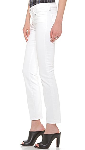 J Brand 8312 Mid Rise Cropped Rail Jeans