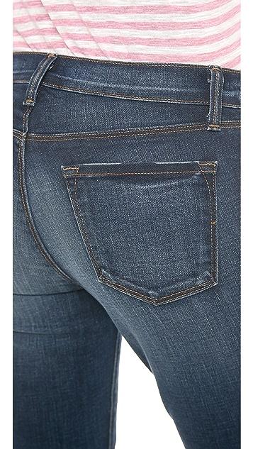 J Brand 8312 Midrise Cropped Rail Jeans
