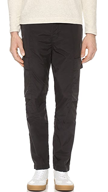 J Brand Relaxed 3.1oz Cargo Pants with Drawstring