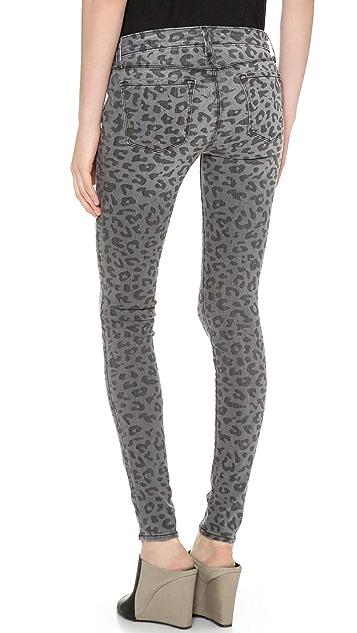 J Brand Super Skinny Leopard Jeans