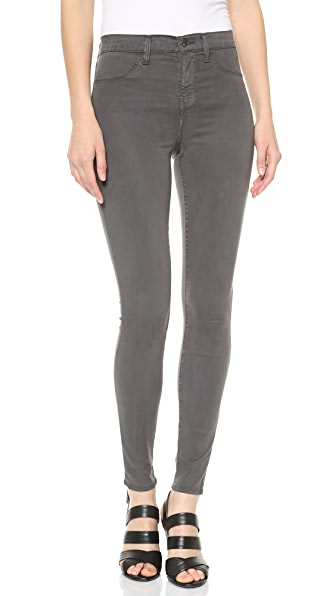 J Brand Maria High Rise Luxe Sateen Skinny Jeans
