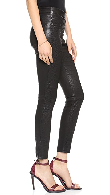 J Brand L8227 Cropped Leather Leggings