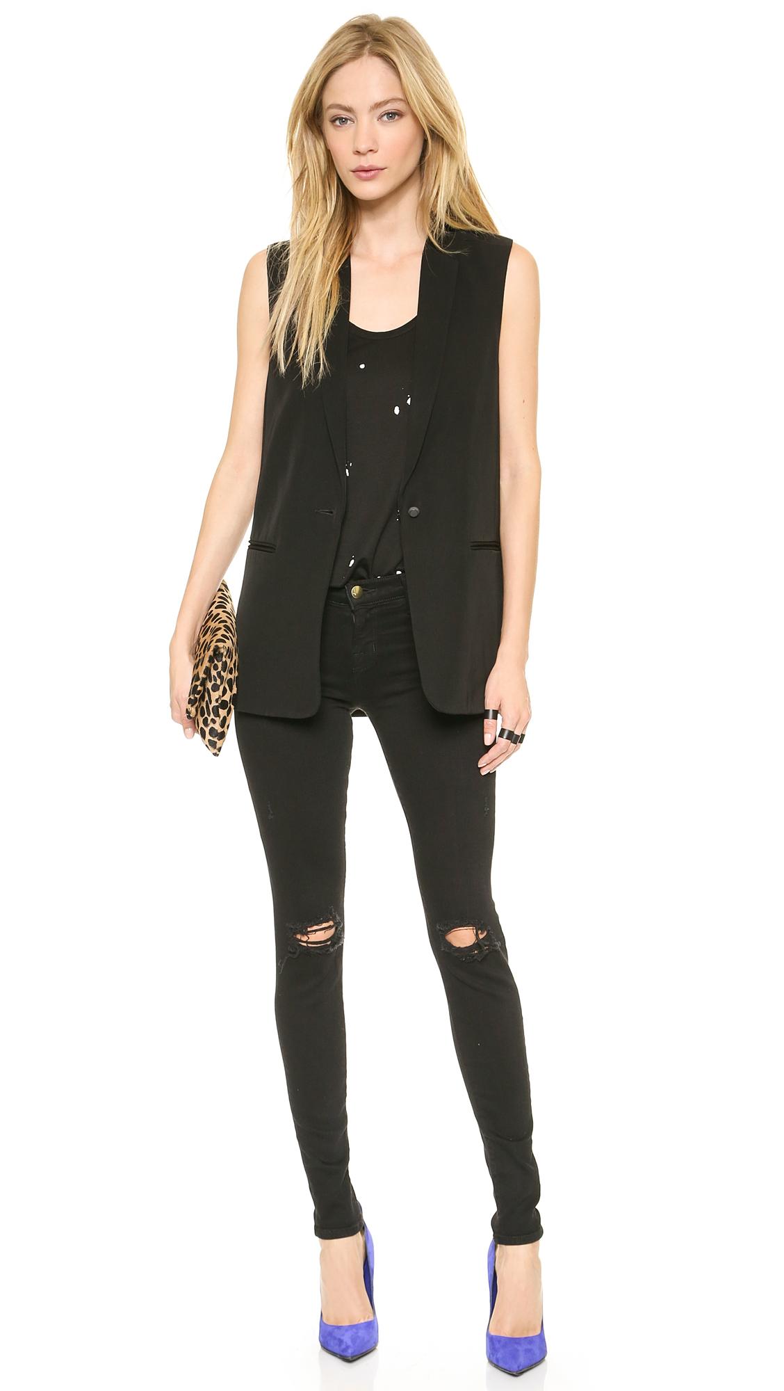 J brand 620 super skinny jeans in blackout