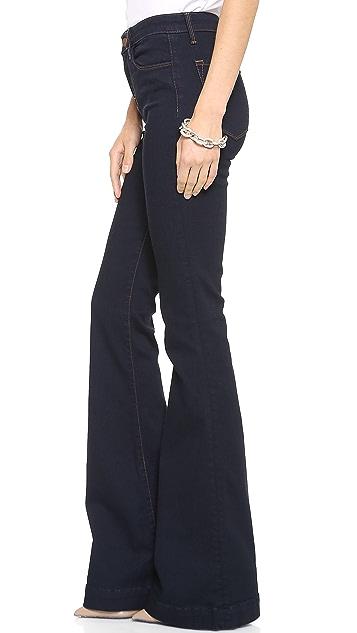 J Brand The Doll High Waist Bell Bottom Jean