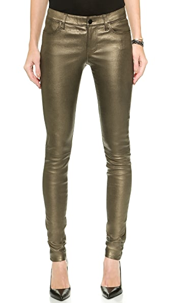 J Brand L624 Stacked Leather Skinny Pants