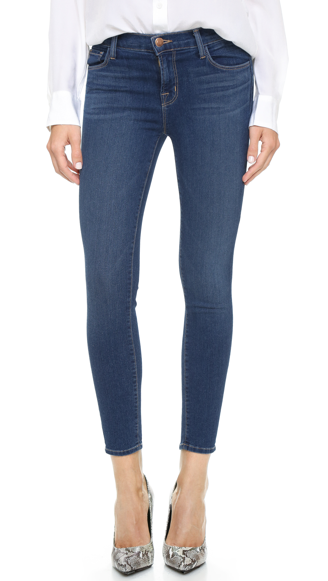 J Brand 835 Mid Rise Crop Jeans In Blue Code